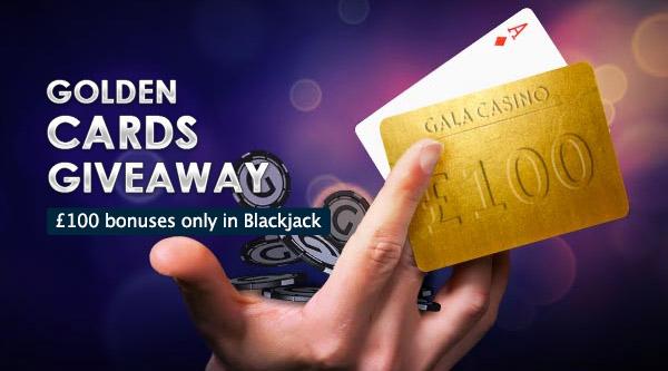 gala casino blackjack golden cards give away