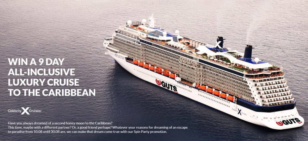 win a cruise with guts casino