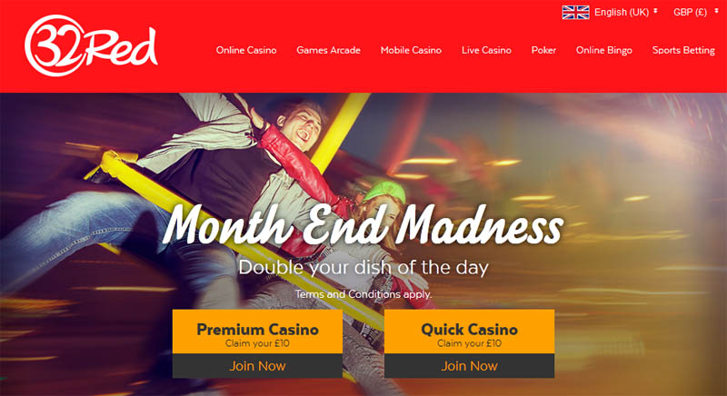 32red casino double bonus promo