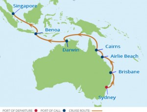 Win an Australian Coast Bali Cruise map