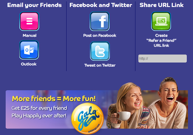 Refer a Friend to Gala Bingo Get £25 Free Bonus