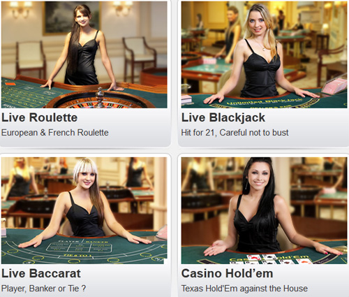 image of the william hill live casino games
