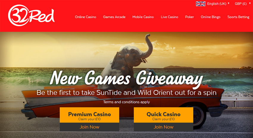 32red casino suntide new games giveaway