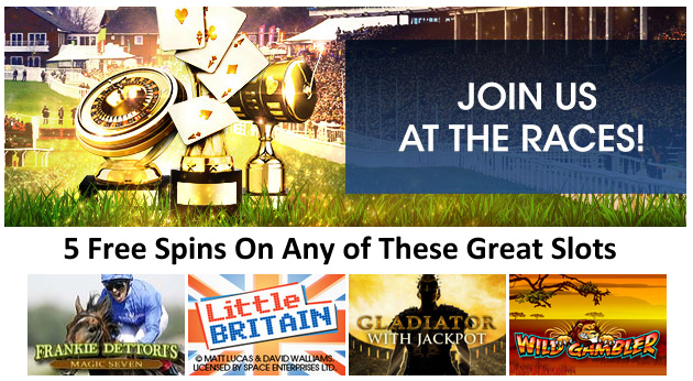 5 free spins if you bet £50 at William Hill