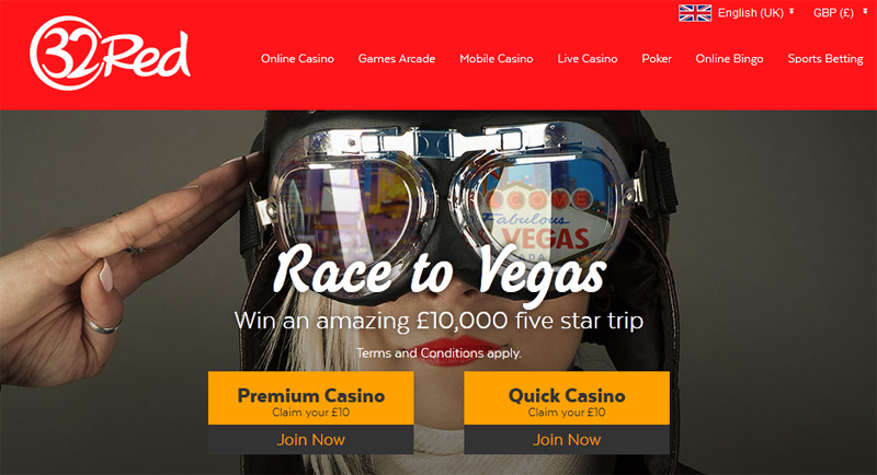 32red race to vegas