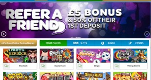 £5 No deposit bonus from mfortune casino