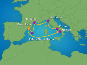 Cruise Map West Mediterranean