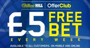william hill offerclub 5 free bet