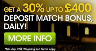 William Hill Casino Cash Match Bonus