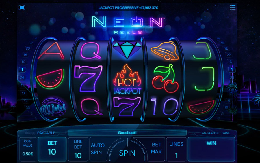 Play Neon Life Online Slots at Casino.com NZ