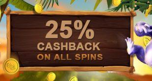 VideoSlots CASHBACK Bonus