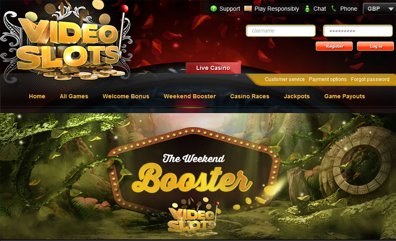 videoslots welcome booster